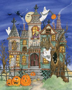 Haunted House Jigsaw Puzzle | Most Popular Puzzles | Vermont Christmas Co. VT Holiday Gift Shop