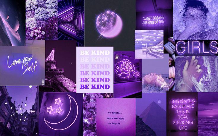 Minimalistic purple mountain 2560x1440 black and purple wallpaper, aesthetic. Purple Aesthetic Laptop Background | Cute desktop ...