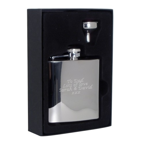Boxed Stainless Steel Hip Flask £24.99 - The Wedding Gift Company