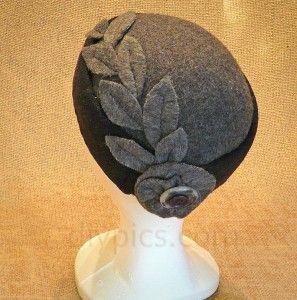 Felt hat with felt trim #millinery #judithm #blocking