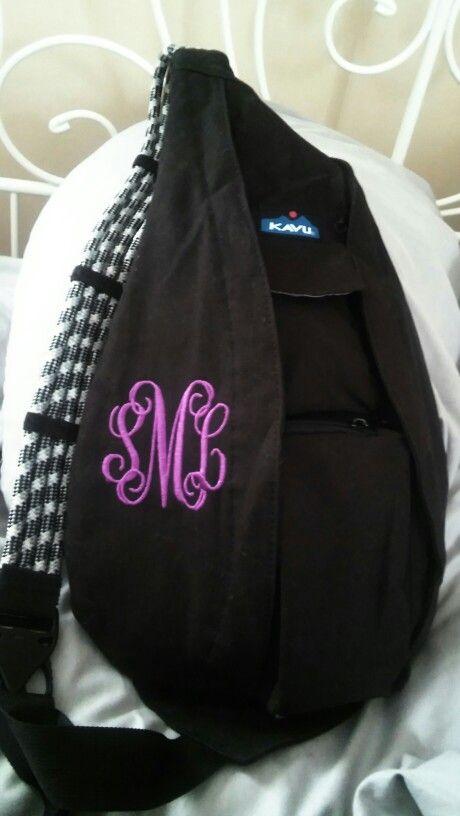 my monogrammed kavu rope bag my style pinterest