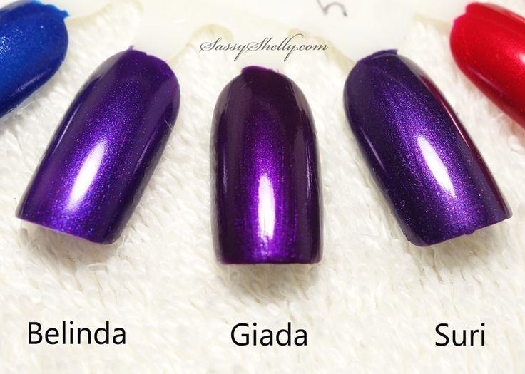 131 best z o y a images on pinterest nail polish nail polishes zoya nail polish comparison purple shimmers belinda giada suri no dupes reheart Images
