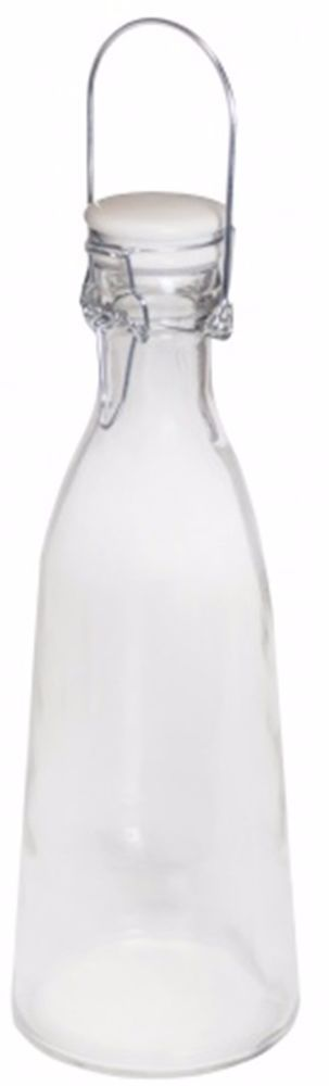 1 Litre Tapered Glass Water Bottle Water Juice Wine Carafe Jug With Clip Top Lid #Zodiac