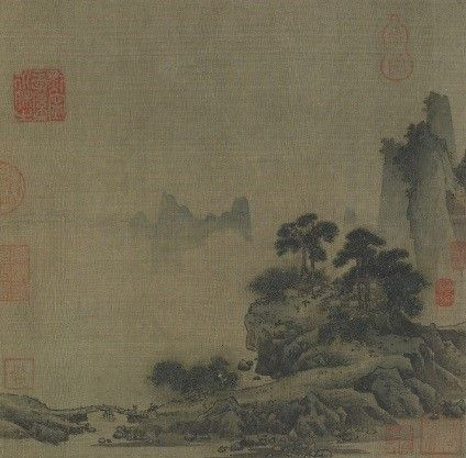 In China, the album format is more intimate than the hanging scroll or handscroll formats, and it is relatively small. Chinese albums usually consist of up to twelve or more folded pages, including paintings as well as calligraphy with wood or brocade-covered covers.  In this album leaf, the artist made one area stand out. The one-corner composition, a favorite during the Southern Song dynasty, focuses attention on the clearly delineated foreground while the remainder of the composition is…