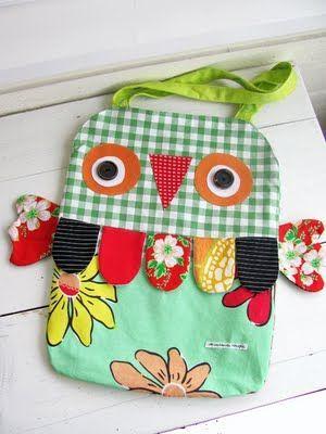 Owl Bag #owl #bag #handmade