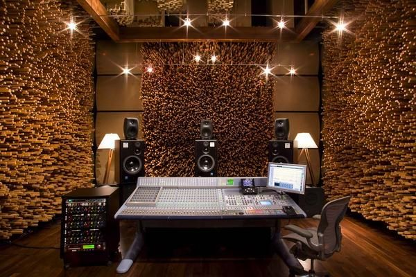 """""""A perfect balance of art and function, this room's killer wood design provides an ideal setting for editing, overdubbing, and mixing."""" - Studio C at Blackbird Studios"""