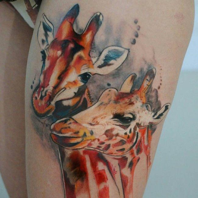 Ms de 25 ideas increbles sobre Tatuajes de jirafa en Pinterest