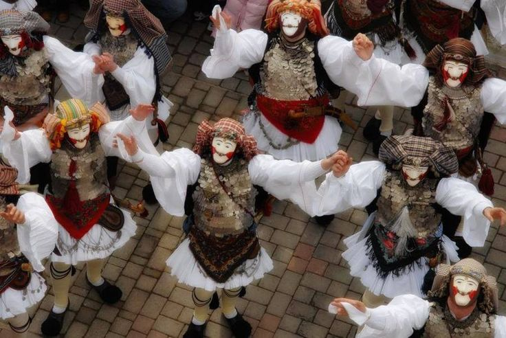 Mpoules, a very old Macedonian #carnival #custom and #tradition from Naousa, Imathia #Macedonia Greece
