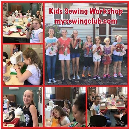 Kids Christmas Sewing Workshops, Two fun days of sewing cool Christmas projects, everyone worked so hard and loved using the sewing machines. Well done. Cheers Fee, mysewingclub.com