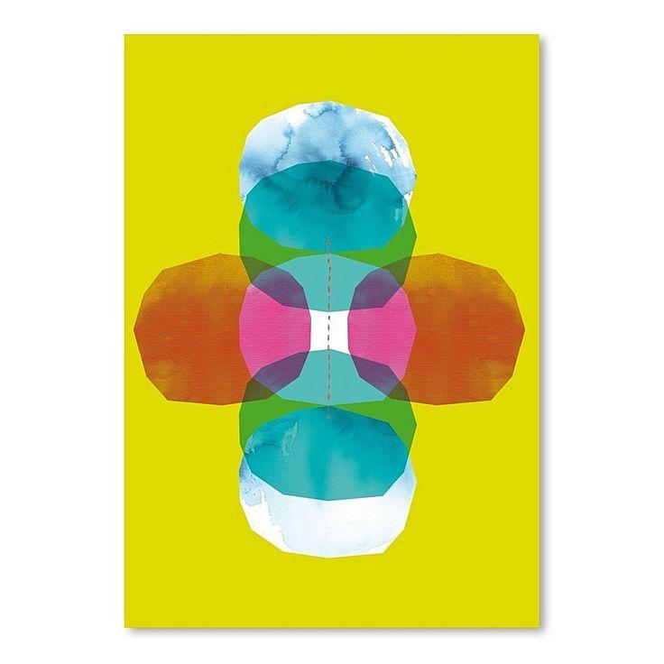 Green Cross Journey Bright Print Art by Americanflat | Zanui