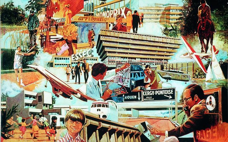 Double page centrale d'une plaquette promotionnelle de l'EPA, circa 1974. © ADVO
