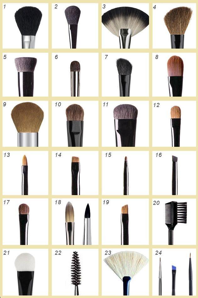 кисточки для макияжа: виды и применение