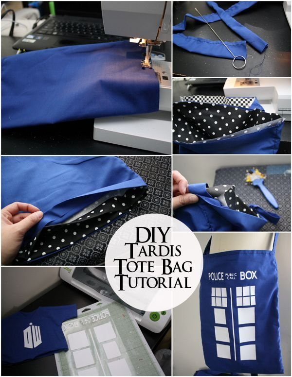 Doctor Who Tardis Bag Tutorial with Marissa from Rae Gun Ramblings