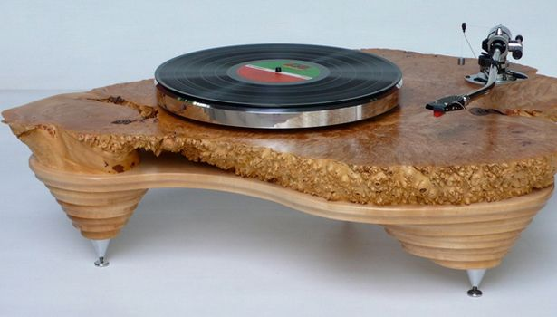 Solid Maple Hyperion Turntable by Audiowood. Sweet