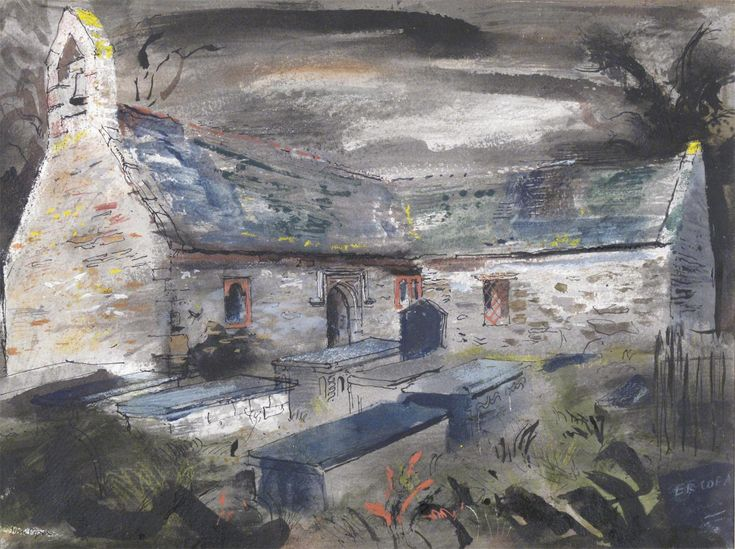 John Piper C.H. (1903-1992) Llantrisant Church, Anglesey