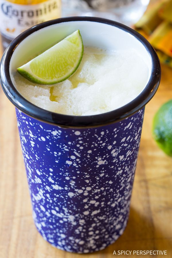 Frothy Frozen Beeritas Recipe - The Best Beerita Recipe you'll ever taste! Fresh-made margaritas mixed with cool Mexican beer. The perfect combination!