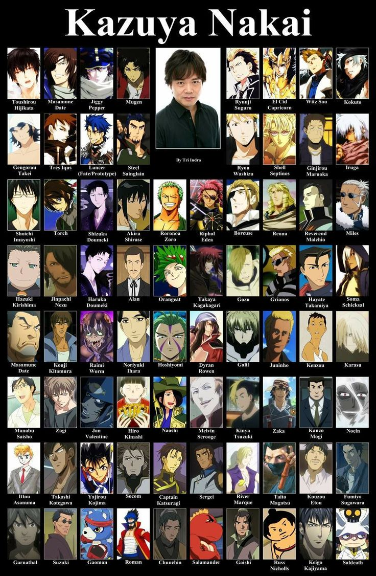 Kazuya Nakai - I keep hearing his voice! Add Zapp Renfro from Kekkai Sensen to this list as well!
