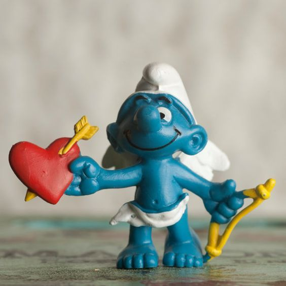Valentine Smurf 1981  Schleich PEYO by SimpleEclecticity on Etsy