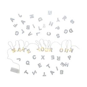 Create Your Own Alphabet String Light