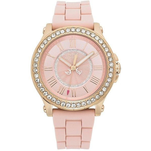 Juicy Couture Watch, Women's Pedigree Dusty Rose Silicone Strap 38mm... found on Polyvore