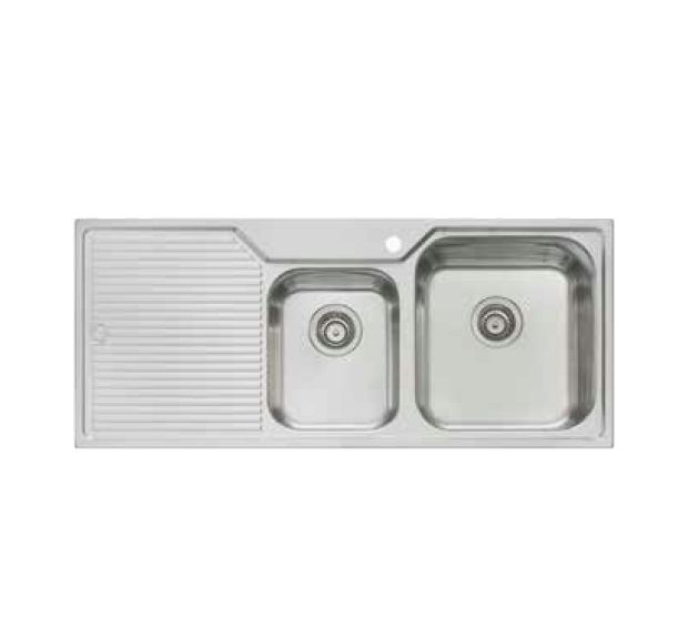 Nu-Petite Right Hand 1 & 3/4  Bowl with Left Hand Drainer Sink
