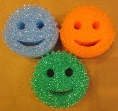 scrub daddy uses. lot of 2 scrub daddy colors 3 pack scratch free durable soft sponge shark tank scrub daddy uses