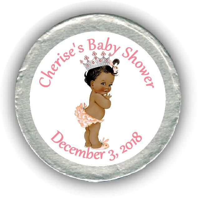 Princess Baby Shower Chocolate Coins #princess #african #coins  #Personalized #party #showers #chocolates