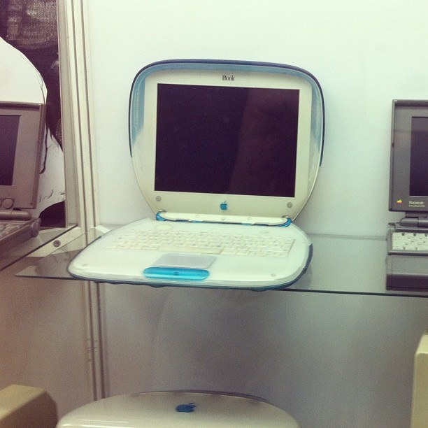 Back when the iBook was a computer, not a digital book.  #apple #mac #technology #evolution #ibook #computer #laptop