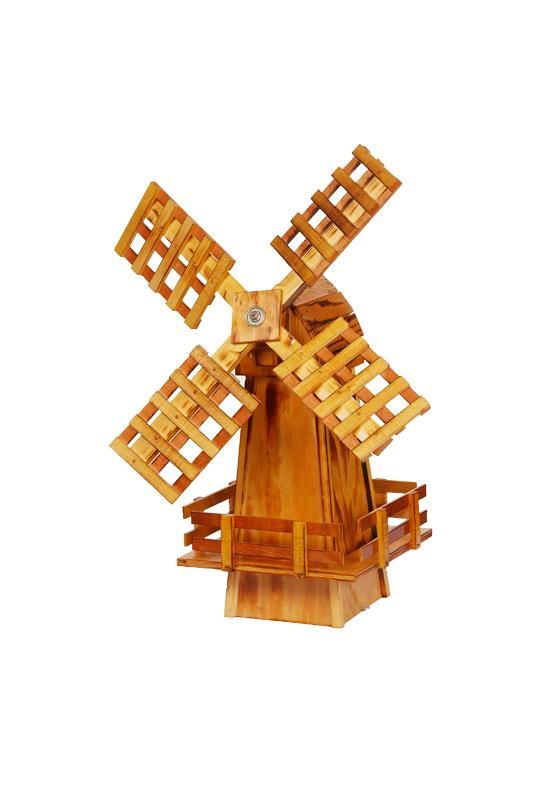 Amish-Made Wooden Windmill - Small