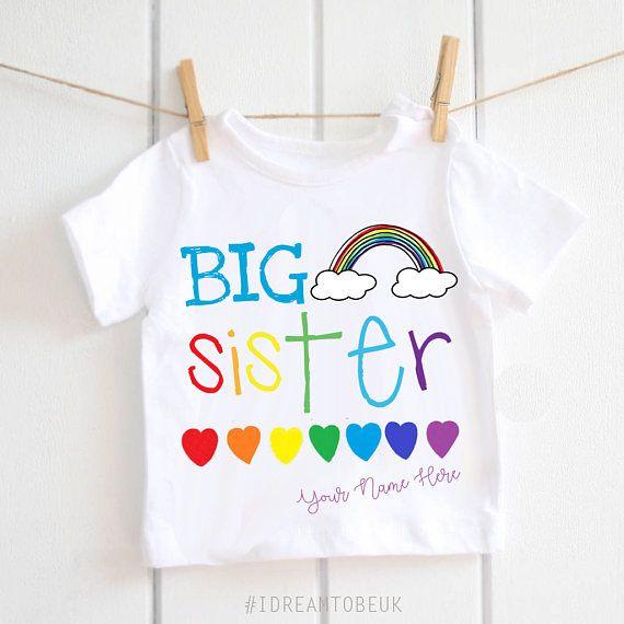 Big sister tshirt  big sister little sister big sister top