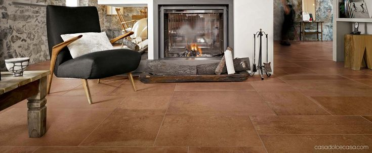 Terra by Casa dolce casa Terracotta tiles floor imitation with ceramic tiles: Terra collection #terra