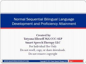 Normal Sequential Bilingual Language Development and Proficiency Attainment