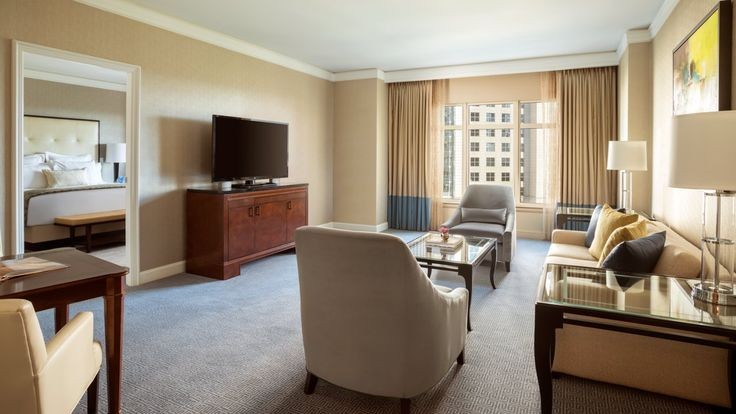- The one-bedroom Deluxe Suite provides a comfortable home away from home, with a spacious parlor and in-mirror bathroom televisions.