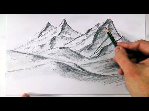 ▶ Como Dibujar Montañas Realistas a Lapiz Faciles y Paso a Paso - YouTube