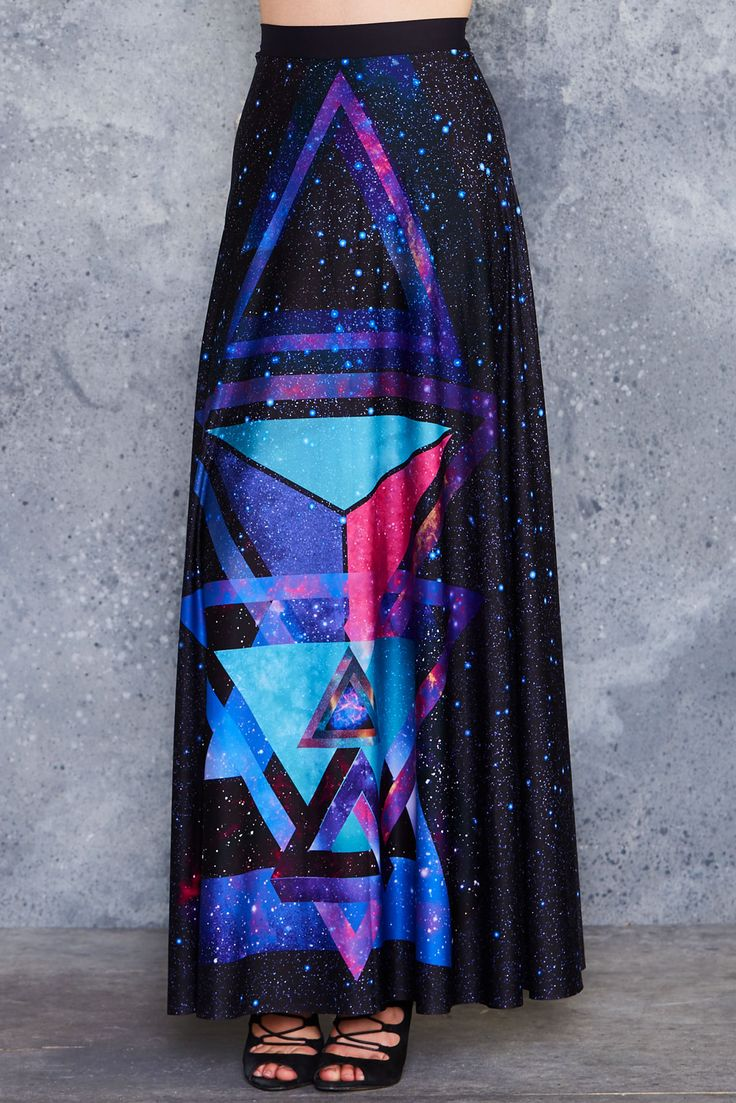 Impossible Triangles Maxi Skirt - PRESALE ($120AUD) by BlackMilk Clothing