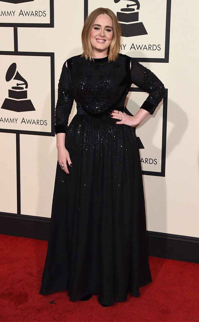 Adele Stuns Looks Understated, Undone and More Confident Than Ever Before on the 2016 Grammys Red Carpet  Adele, 2016 Grammy Awards