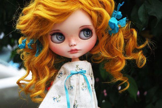 "OOAK Custom Blythe Doll ""AMBER"" by Cihui"