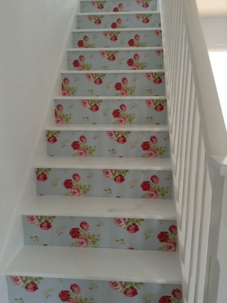 Catch kidston wallpaper stairs                                                                                                                                                                                 Plus