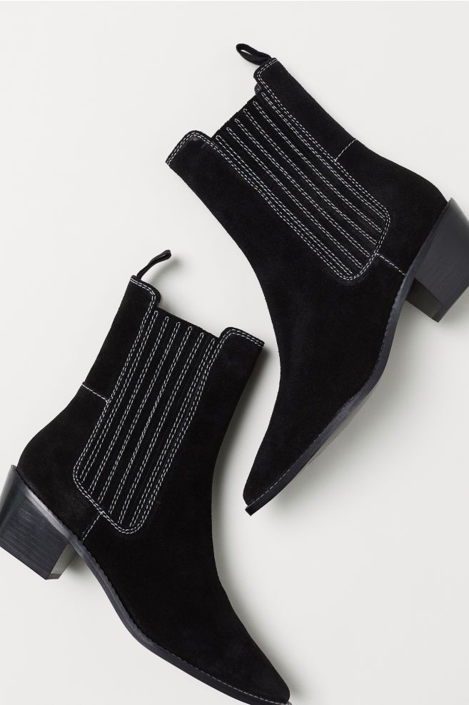 Ankle Boots with Side Panels Red | H&M US