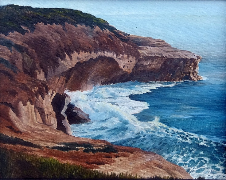 Oil Painting of Lion King Cove ...LJ