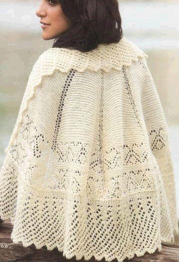 123 besten capa con dos agujas-knitted cape Bilder auf Pinterest ...