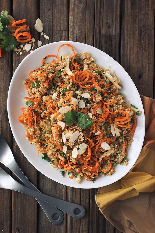 Moroccan Quinoa and Carrot Salad / Wholesome Foodie <3
