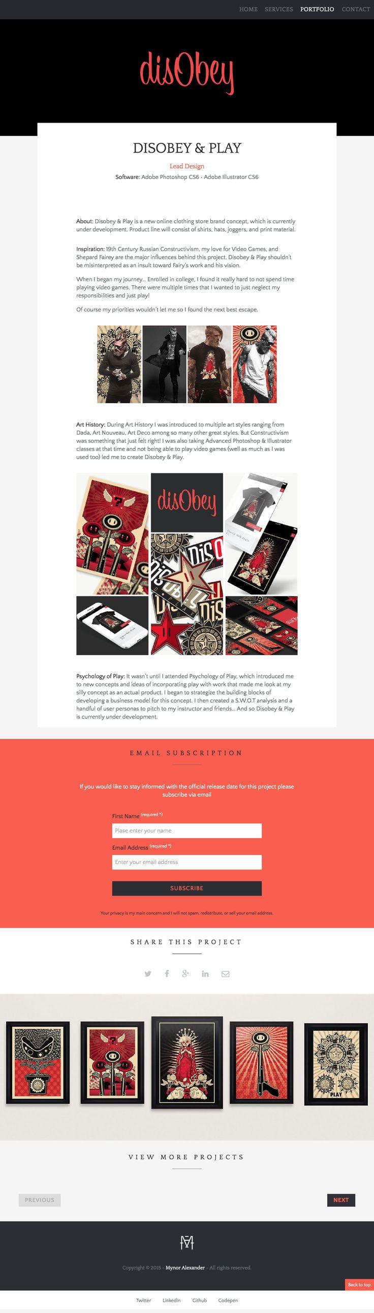 "Disobey & Play - Design Concept by Mynor ""Bugsy"" Alexander  #bugsy #website #portfolio #illustration #brand #design #portfolio #mynor #alexander #disobey #play #gaming #super #mario #nes #clothing #fashion #online"