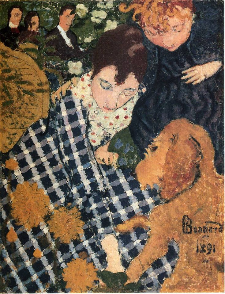 Woman with Dog - Pierre Bonnard