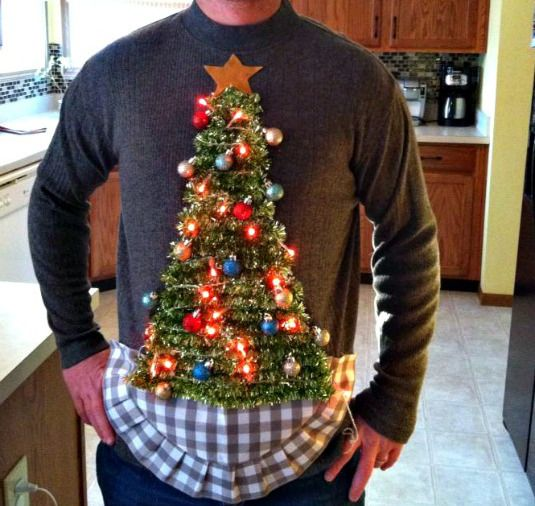 DIY Baubles and Lights Ugly Christmas Sweater | Sweaters | Pinterest |  Christmas, Diy ugly christmas sweater and Ugly christmas sweater - DIY Baubles And Lights Ugly Christmas Sweater Sweaters Pinterest