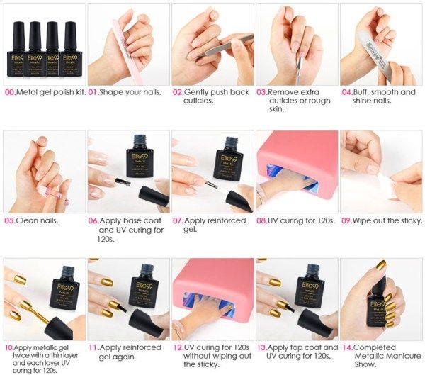 UV Gel Nails - Step By Step