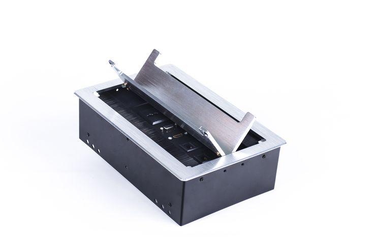 GROMMET  OPE Grommet para mesa de juntas por su apertura bilateral, viene con 4 toma corriente, 2 entradas de voz, 2 de datos, 1 usb, 1 vga, 1 hdmi. www.dicy.co