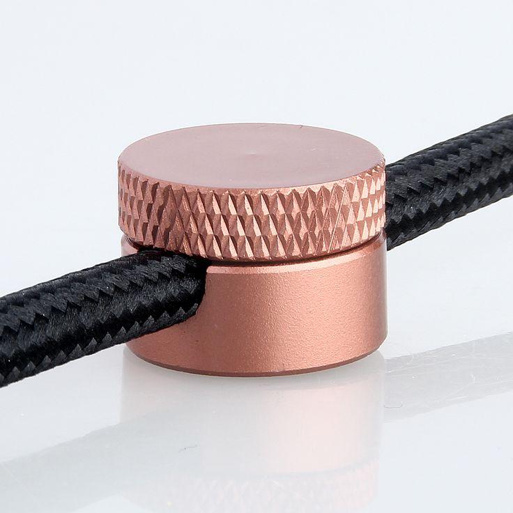 Lampen Distanz-Aufhänger Affenschaukel Kabelhalter Metall kupferfarbig lackiert