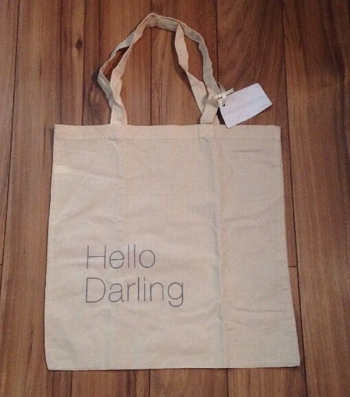 Hello Darling Natural Canvas Tote By #KellyRutherford