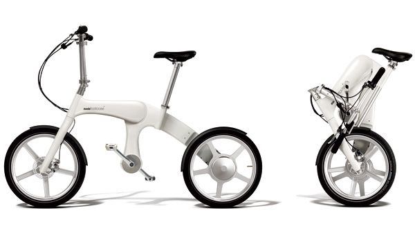 Mando Footloose E-Bike by MAS Design Products Ltd. (Mark Sanders) - The Mando Footloose E-Bike features an innovative and compact design, it folds quickly and even rolls when folded. It is powered by an innovative chainless drive and flexibly adapts to different road conditions. | Yanko Design